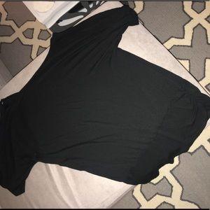 Tops - Size L black open sleeve dolman like shirt